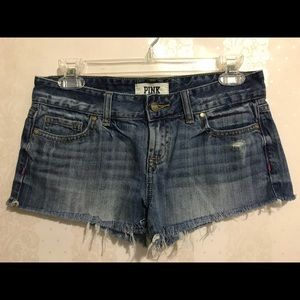 PINK Victoria Secret cut off denim shorts 💗